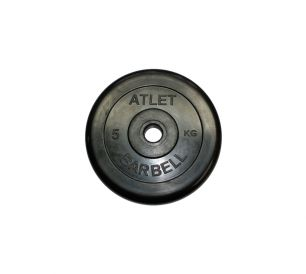 Диск обрезиненный черного цвета Atlet 5 кг