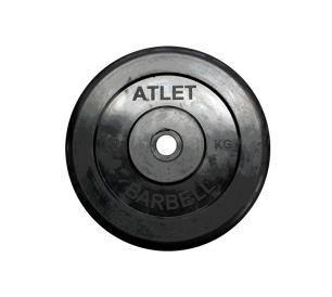 Диск обрезиненный черного цвета Atlet 10 кг